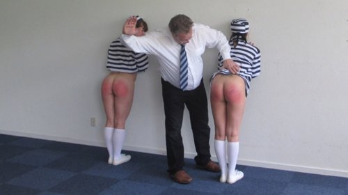 Corporal punishments, spanking and caning of young girls in a prison
